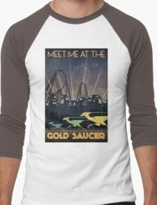 Final Fantasy VII Gold Saucer Travel Poster Men's Baseball ¾ T-Shirt