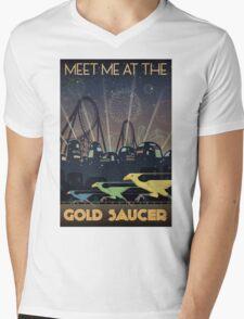Final Fantasy VII Gold Saucer Travel Poster Mens V-Neck T-Shirt