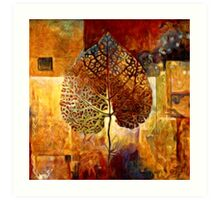 Abstract Leaf Oil Painting #1 Art Print