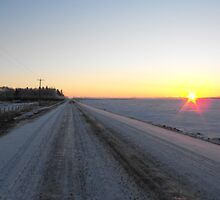 Sunrise over the Winter Prairies by ArianaMurphy
