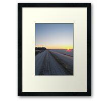 Sunrise over the Winter Prairies Framed Print