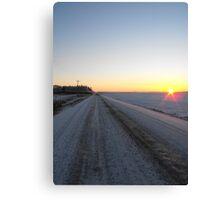 Sunrise over the Winter Prairies Canvas Print