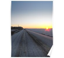 Sunrise over the Winter Prairies Poster
