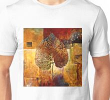 Abstract Leaf Oil Painting #1 Unisex T-Shirt