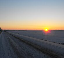 Winter Dawn over the Prairies by ArianaMurphy