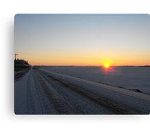 Winter Dawn over the Prairies Canvas Print