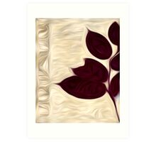Abstract Leaf Oil Painting #2 Art Print
