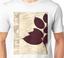 Abstract Leaf Oil Painting #2 Unisex T-Shirt