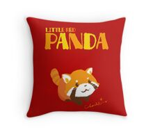 LITTLE RED PANDA Throw Pillow