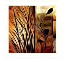 Abstract Nature Oil Painting #1 Art Print
