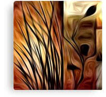 Abstract Nature Oil Painting #1 Canvas Print