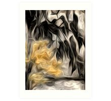 Abstract Nature Oil Painting #2 Art Print