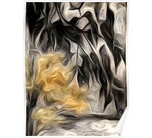 Abstract Nature Oil Painting #2 Poster