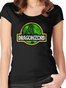 Jurassic Power Green Women's Fitted Scoop T-Shirt