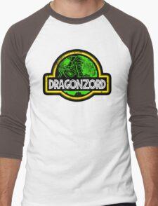 Jurassic Power Green Men's Baseball ¾ T-Shirt