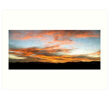 Afghanistan Sunrise Oil Painting, Sangin District Helmand Province Art Print