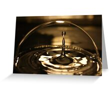 water drop impact inside a bubble Greeting Card