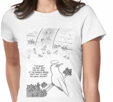 Rainbow bridge cockatiel parrot Womens Fitted T-Shirt