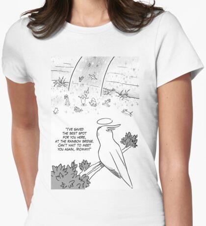 Rainbow bridge cockatiel parrot Womens Fitted T-Shirt