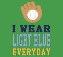 I Wear Light Blue Baby Tee