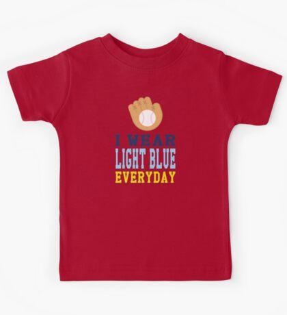 I Wear Light Blue Kids Tee