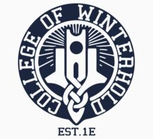 College of Winterhold Est. 1E Kids Tee