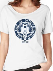 College of Winterhold Est. 1E Women's Relaxed Fit T-Shirt