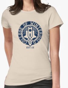 College of Winterhold Est. 1E Womens Fitted T-Shirt