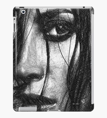 Woman Sketch in Black and White iPad Case/Skin