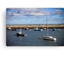 Harbour on a Summers Day  Canvas Print