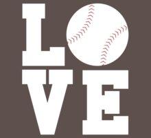 Love Baseball Baby Tee