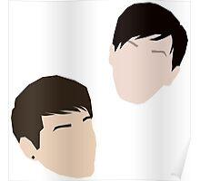 Dan and Phil (minimalist vector) Poster