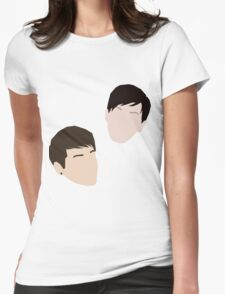 Dan and Phil (minimalist vector) Womens Fitted T-Shirt