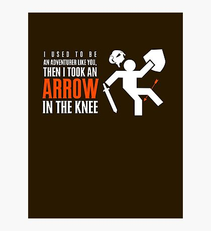 Arrow in the Knee Photographic Print