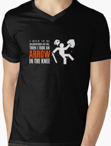 Arrow in the Knee Mens V-Neck T-Shirt