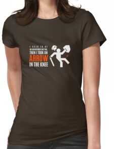 Arrow in the Knee Womens Fitted T-Shirt
