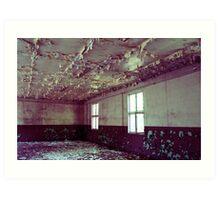 the peeling ceiling Art Print