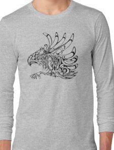 Thunderbird - aboriginal design - abstract eagle Long Sleeve T-Shirt