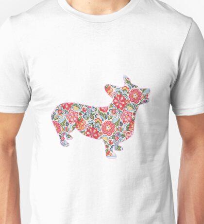 Corgi Preppy Print Unisex T-Shirt