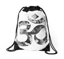 Retro om sign Drawstring Bag
