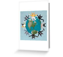 Cats Earth Day Greeting Card