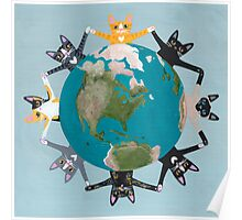 Cats Earth Day Poster