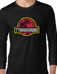 Jurassic Power Red Long Sleeve T-Shirt