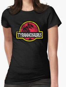 Jurassic Power Red Womens Fitted T-Shirt