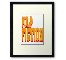 The Pulp Fiction Logo Framed Print