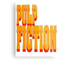 The Pulp Fiction Logo Metal Print