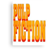 The Pulp Fiction Logo Canvas Print