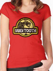 Jurassic Power Yellow Women's Fitted Scoop T-Shirt