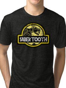 Jurassic Power Yellow Tri-blend T-Shirt