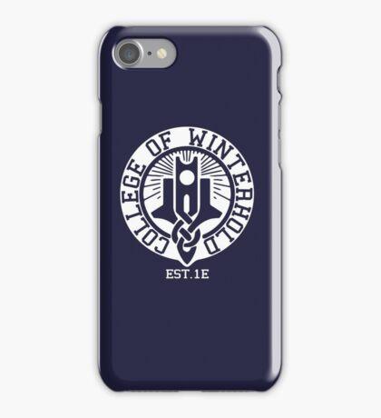 College of Winterhold Est. 1E (white) iPhone Case/Skin